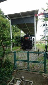 村山龍平記念館蒸気機関車SLC58414