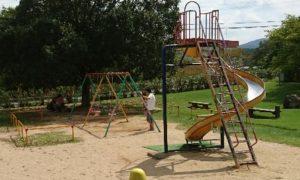 中部台運動公園遊具一回転すべり台