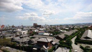 松坂城址から城下町松阪市を見下ろす