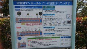 鈴の森公園災害用マンホールトイレ
