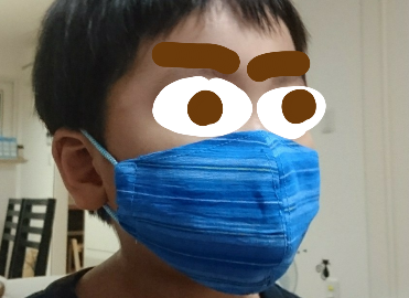 自作冷感マスク