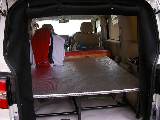 車中泊用自作ベッド